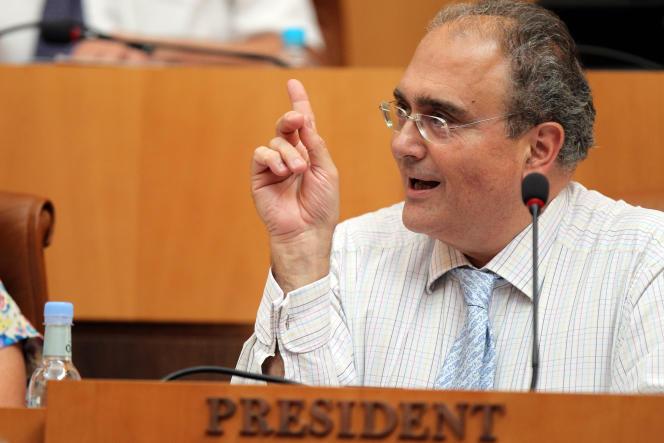 Paul Giacobbi, ex-président du conseil exécutif de Corse, à Ajaccio le 26juillet 2012.
