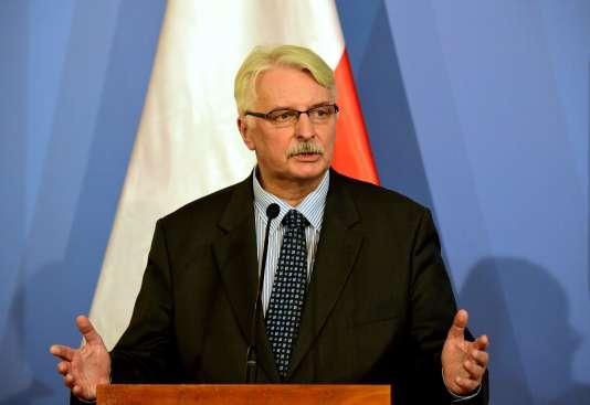 Le ministre polonais des affaires étrangères, Witold Waszczykowski, en février à Budapest.