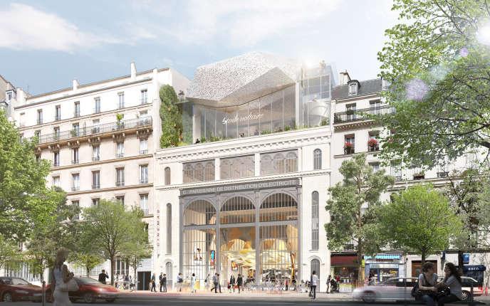 Vue du projet Etoile Voltaire retenu par la ville de Paris.