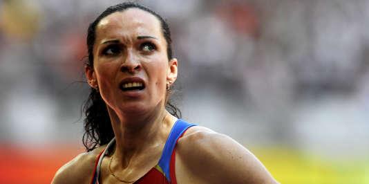 La Russe Tatyana Andrianova, lors des Jeux olympiques de Pékin, le 15 août 2008.