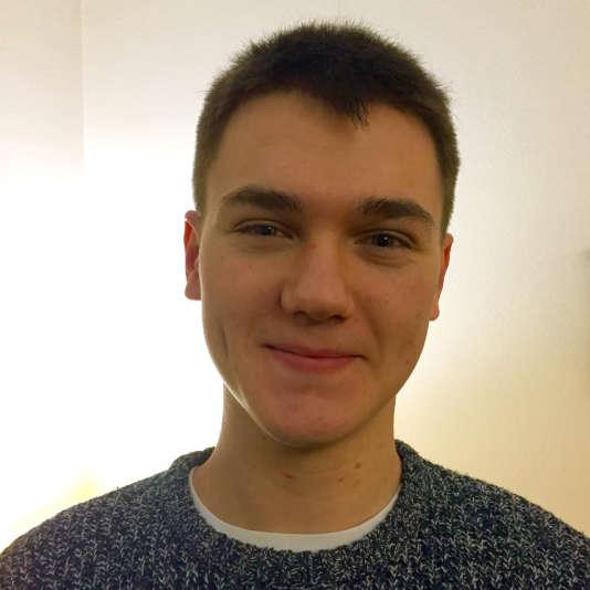 Wandrille Würz, 19 ans, en deuxième année du bachelor de technologie de l'Ecole des arts et métiers, à Châlons-en-Champagne.