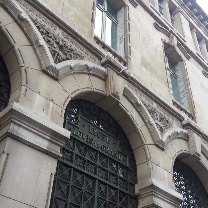 La façade du lycée Louis-le-Grand, à Paris.