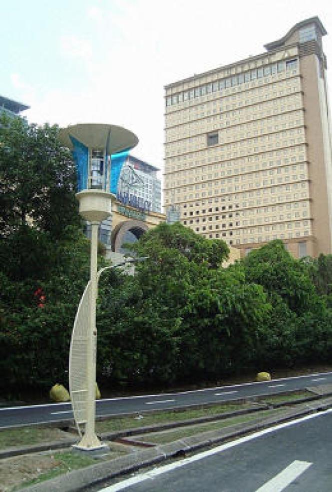 Lampadaire tueur de moustique en Malaisie Photo.