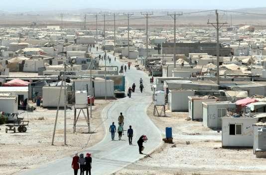 Le camp de réfugiés syriens de Zaatari en Jordanie le 19 septembre 2015.