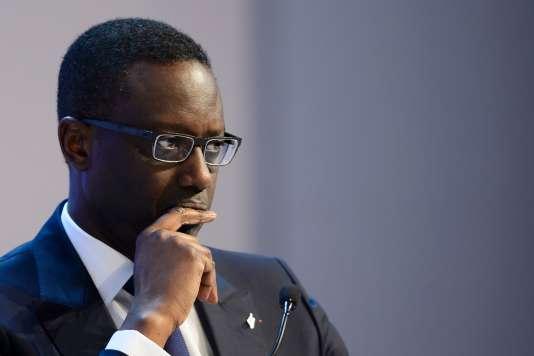 Le franco-ivoirien Tidjane Thiam, le 23 janvier, lors du Forum économique mondial, à Davos (Suisse).