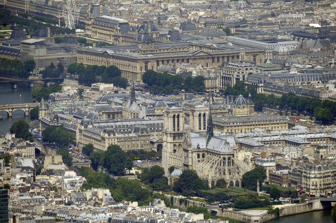 L'île de la Cité à Paris en juillet 2010.