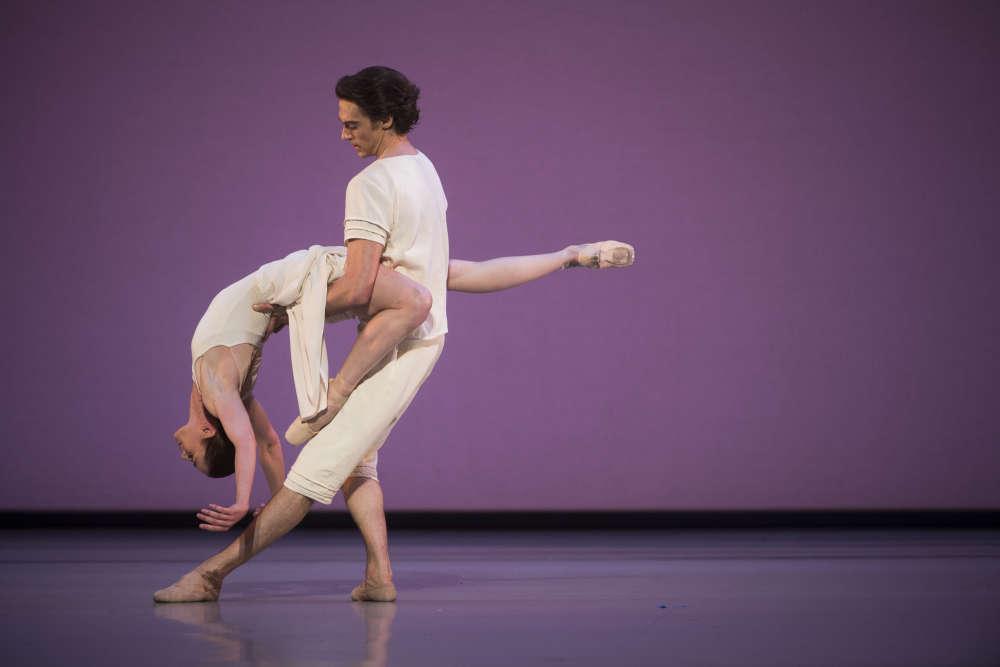 """Aurélie Dupont aux côtés d'Hervé Moreau lors de la première de """"Daphnis et Chloé"""", chorégraphié par Benjamin Millepied."""