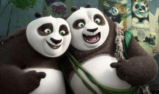 """Le film """"Kung Fu Panda 3"""", produit par DreamWorks."""