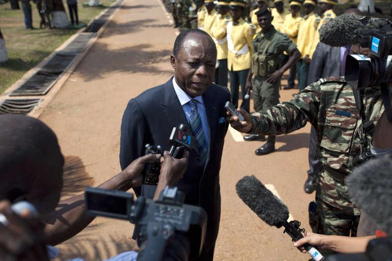 Le général congolais Jean-Marie Michel Mokoko, à Bangui, en décembre 2013.