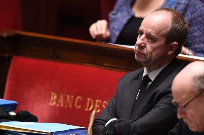 Le ministre de la justice Jean-Jacques Urvoas à l'Assemblée nationale le 5 février.