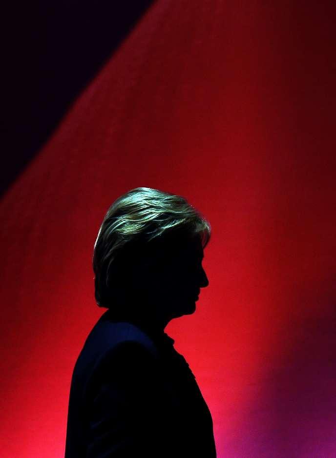 Hillary Clinton, sur le plateau de la chaîne MSNBC, le 4 février.