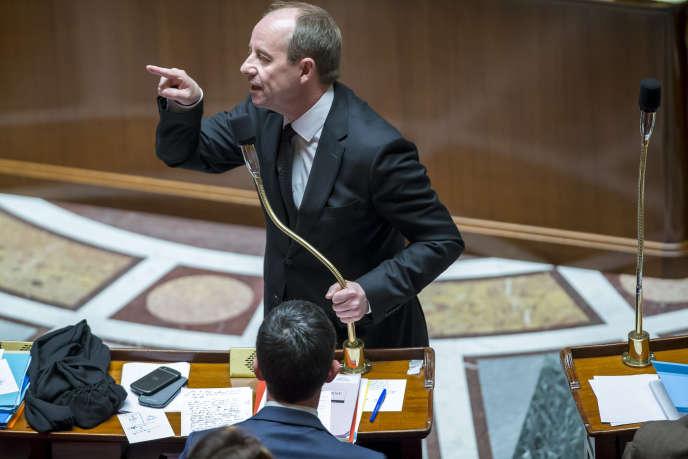 Jean-Jacques Urvoas, ministre de la justice, à l'Assemblée nationale, le 5 février 2016.