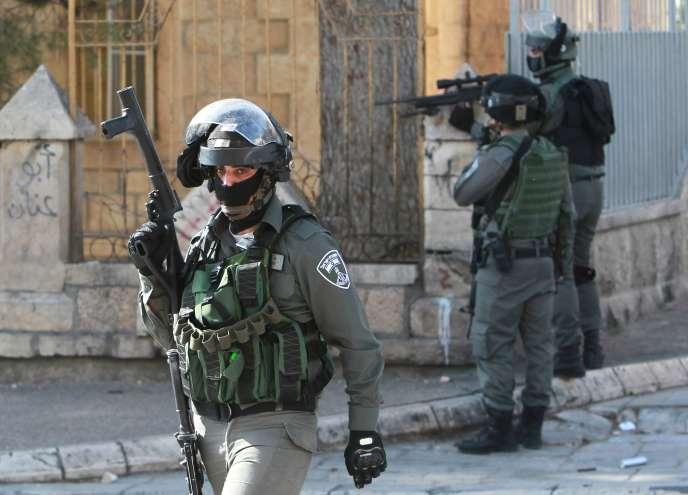 Des soldats israéliens dans la ville de Bethléem, en Cisjordanie, le 5 février 2016.