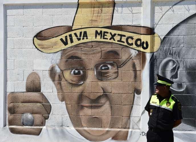 A Ecatepec, près de Mexico, où le pape François doit célébrer une messe.
