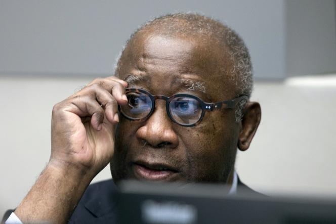 L'ancien président ivoirien Laurent Gbagbo, devant la Coupr pénale internationale, à La Haye, le 28 janvier 2016.