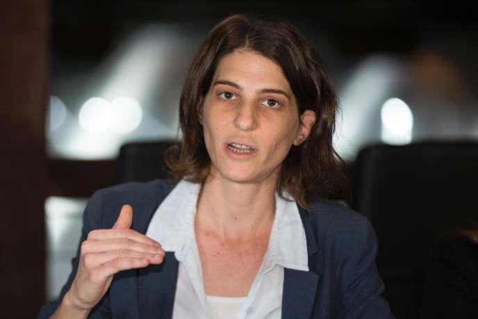 Yuli Novak, directrice de l'ONG Rompre le silence, lors d'une conférence de presse le 5 février 2016 à Tel-Aviv.