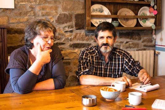 Jean-Yves et Marie-Dominique Salaün, dans leur maison, le 2février.