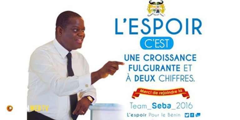 Affiche de campagne de Sébastien Ajavon.
