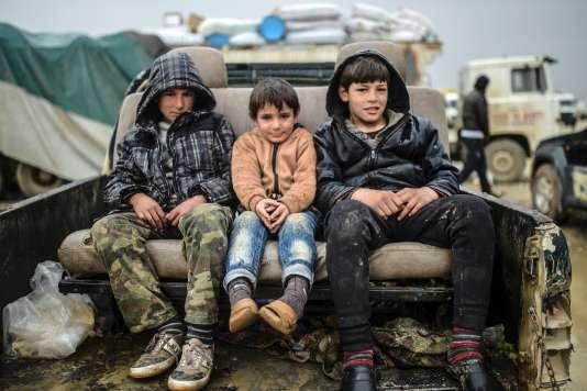Enfants à Bab Al-Salama, le 6 février.