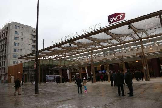 La gare Rosa-Parks (dans le 19e à Paris), le 6 février, lors de son inauguration.
