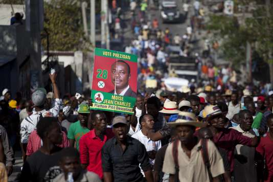 Manifestations contre le gouvernement à Port au prince, en Haïti, le 5 février.