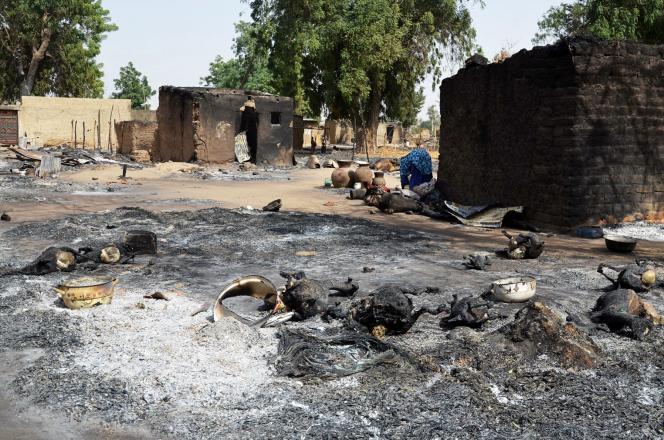 Mairi, un village du nord-est du Nigeria ravagé par le passage de Boko Haram, le 6février 2016.
