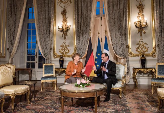 Angela Merkel et François Hollande, à Strasbourg, le 7 février.