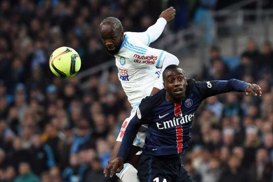 Lassana Diarra  prend le dessus sur Blaise Matuidi.