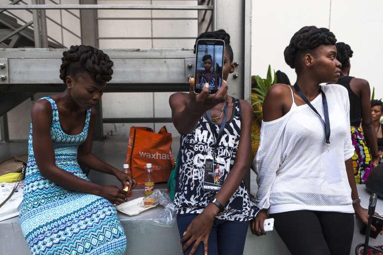 Lors de la Fashion Week, à Kinshasa, le 8 octobre 2015.