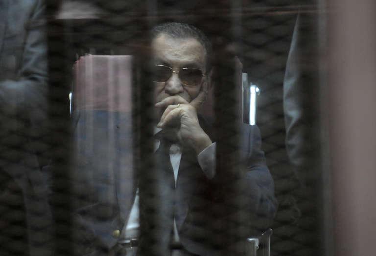 Hosni Moubarak au Caire, le 9 mai 2015.