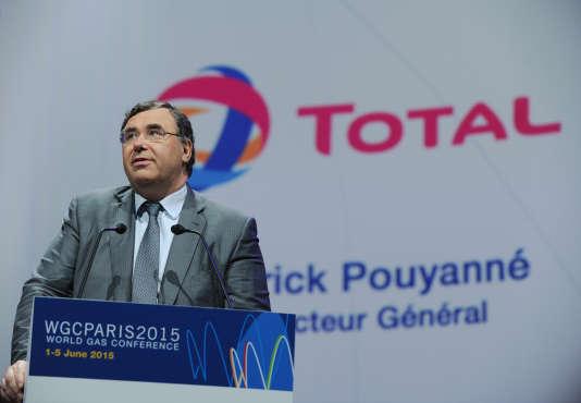Patrick Pouyanné, PDG de l'entreprise, le 2 juin 2015 à Paris.