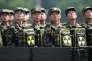Des militaires nord coréens lors d'une parade à Pyongyang en juillet 2013.