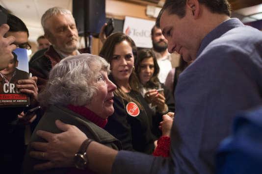 Le sénateur républicain du Texas Ted Cruz, en campagne à Keene, dans le New Hampshire, le 7 février.