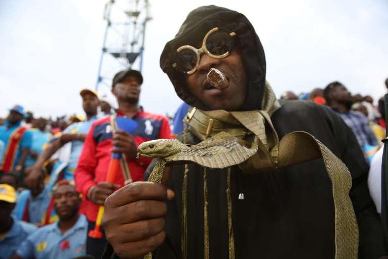 Un supporter congolais dans le stade de Kigali où s'est déroulé la finale du Chan, dimanche 7 février.