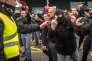 Manifestation de la branche française de Pegida,  à Calais (Pas-de-Calais), samedi 6février.