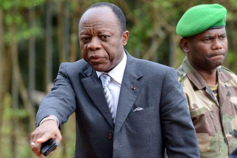Le général Jean-Marie Michel Mokoko, en mai 2014, à Bangui. Il occupait alors la fonction dereprésentant spécial de la présidente de la Commission de l'Union africaine (UA) en Centrafrique.