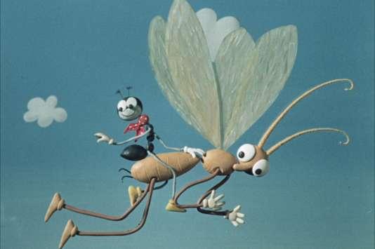 """Une image du programme de cinq courts-métrages d'animation tchèques d'Hermina Tyrlova, """"Ferda la fourmi""""."""