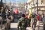 Jeudi 4février, les forces pro-régime dans la ville chiite de Zahraa, dans  la région d'Alep, qui était jusque-là assiégée par les rebelles.