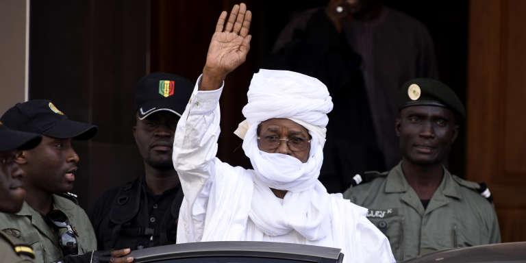 L'ex-président tchadien, Hissène Habré, en juin 2015 à Dakar.