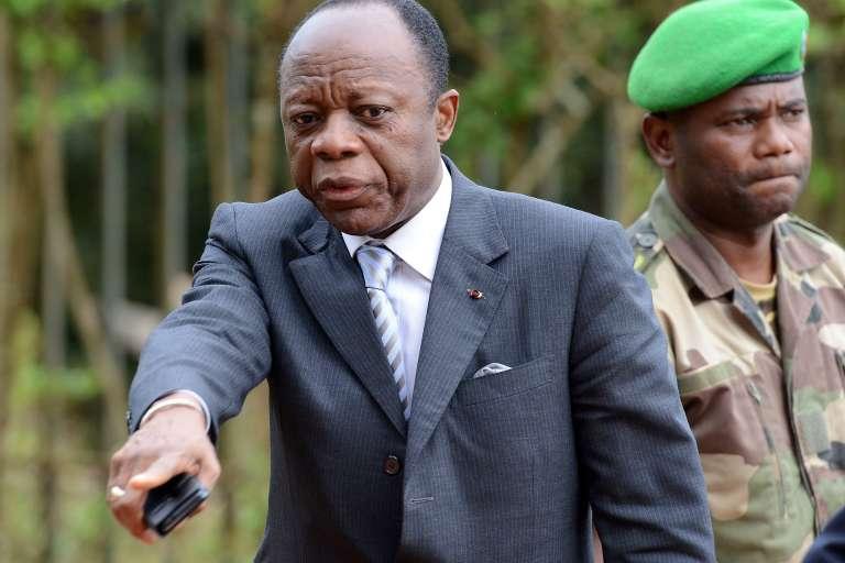 Le général Jean-Marie Michel Mokoko, à Bangui, le mai 2014.