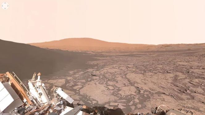 La NASA a mis en ligne une vidéo à 360 degrés qui permet de promener son regard à la surface de Mars, grâce aux clichés pris par le robot Curiosity.