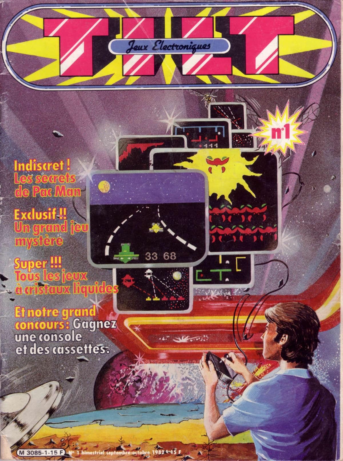La couverture du premier numéro de «Tilt», premier magazine spécialisé d'Europe, en septembre 1982.