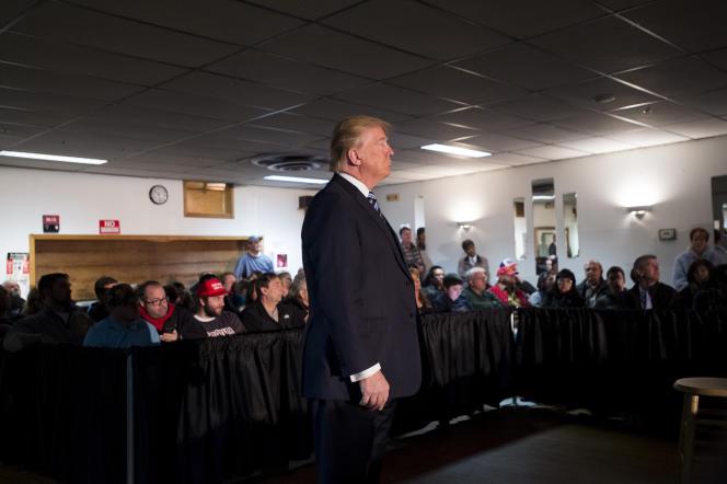 Donald Trump, à Salem, dans le New Hampshire.
