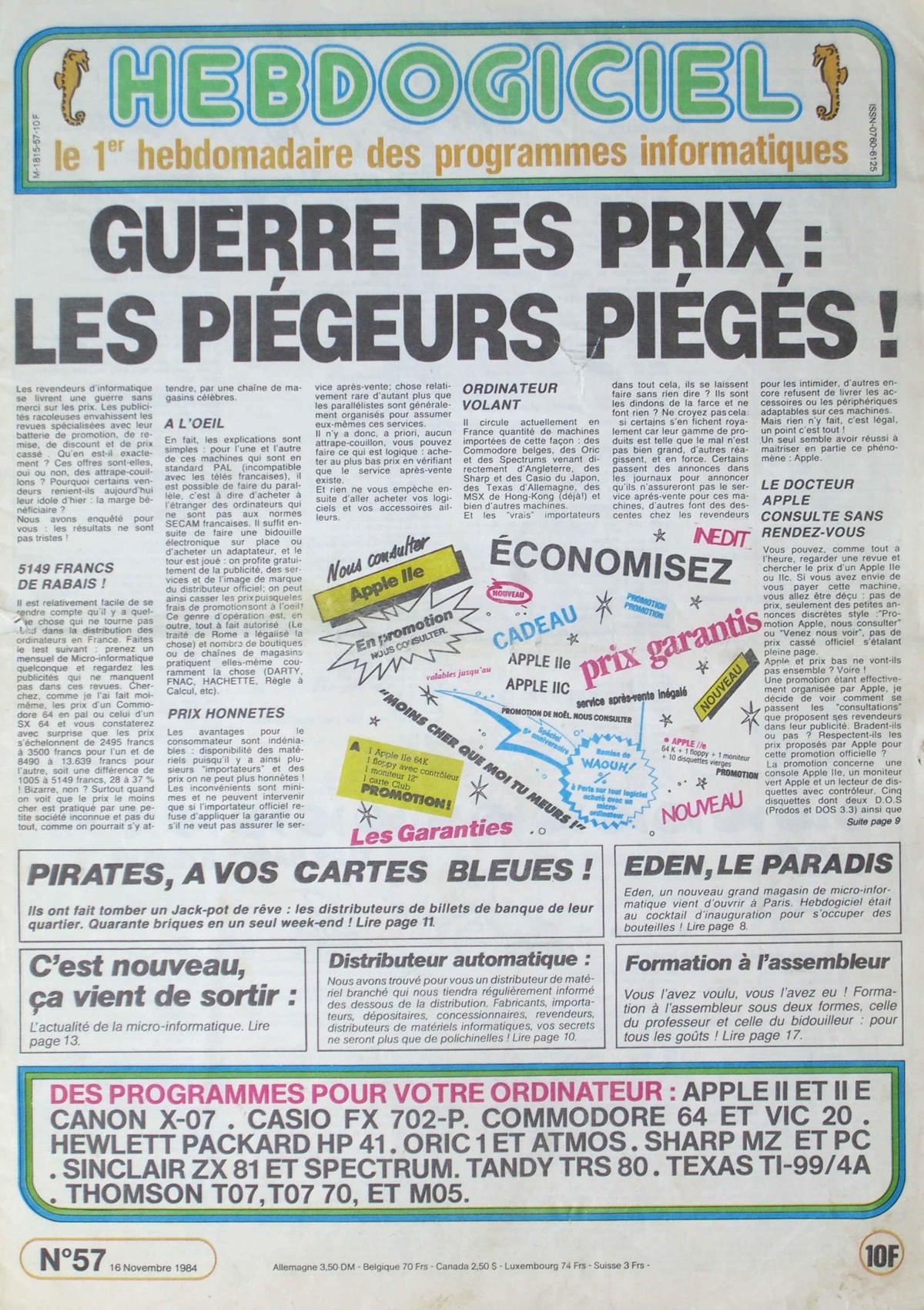 «Pirates, à vos cartes bleues!» Le hackeur est l'une des figures récurrentes de la presse des années 1980.