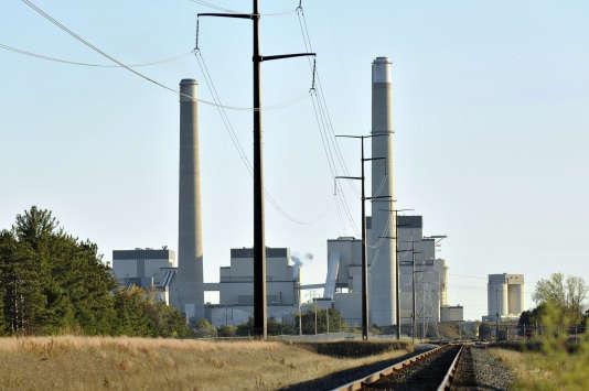 Une centrale électrique à Becker dans le Minnesota.