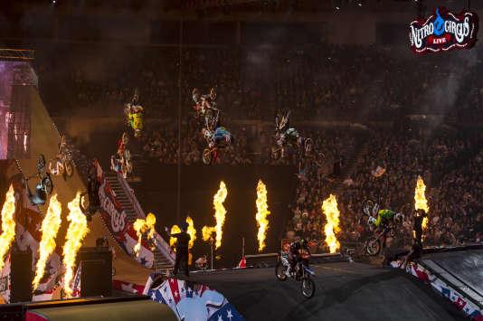 L'équipe du Nitro Circus Live lors d'un show en Australie, en mai 2014.