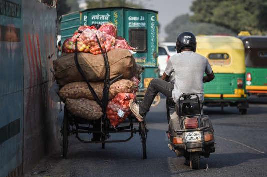 Dans les rues de New Delhi, en octobre 2015.