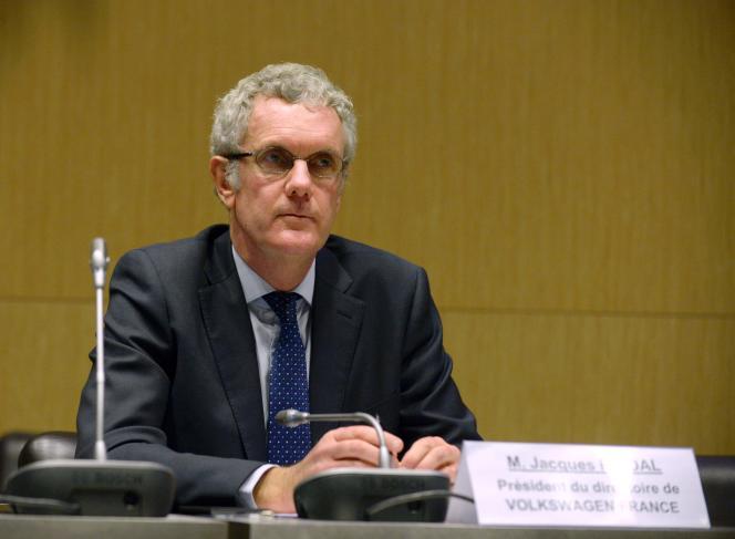 Jacques Rivoal, le président de Volkswagen en France, mardi 9 février, à l'Assemblée nationale.