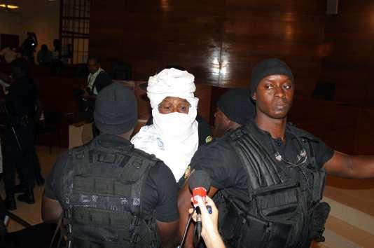 Hissène Habré, lors de son procès devant les Chambres africaines extraordinaires, à Dakar, le 20 juillet 2015.