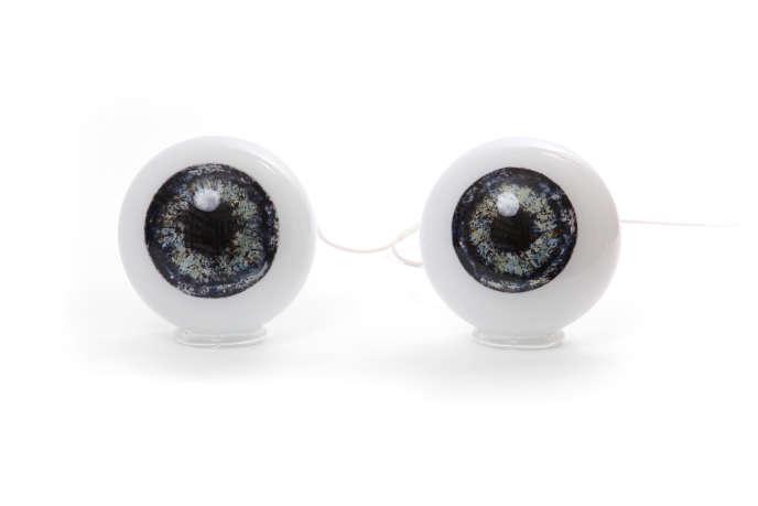 Captivant Lampe à Poser Eyes Cloning (2008) : Des Globes En Verre Soufflé De Murano